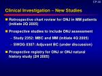 clinical investigation new studies
