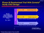 phase iii randomized trial with zometa study 2352 design