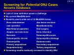 screening for potential onj cases novartis databases