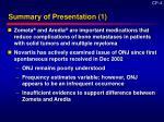 summary of presentation 1