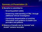 summary of presentation 2