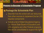 process to become a schoolwide program41