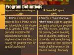 program definitions