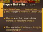 program similarities cont