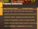 program similarities11