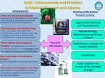 amu achievements and priorities in medical research and science