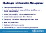 challenges in information management
