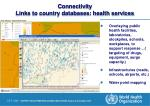 connectivity links to country databases health services