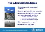 the public health landscape