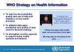 who strategy on health information