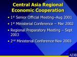 central asia regional economic cooperation
