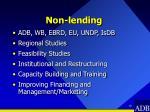 non lending