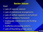 sector issues