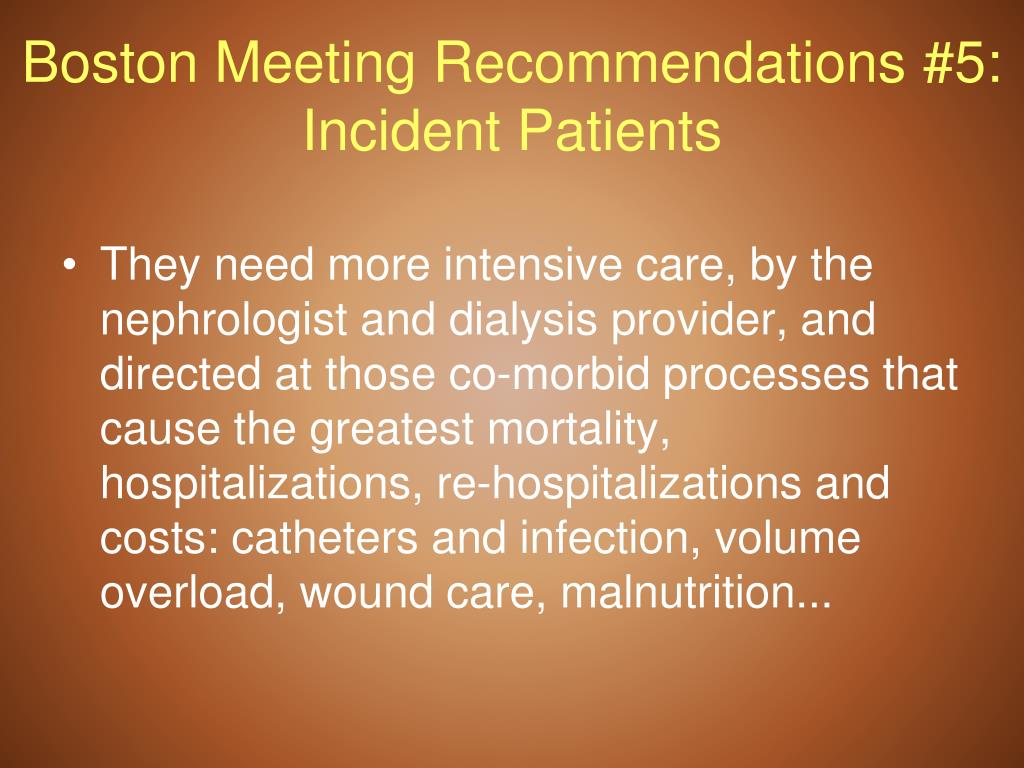 Boston Meeting Recommendations #5: