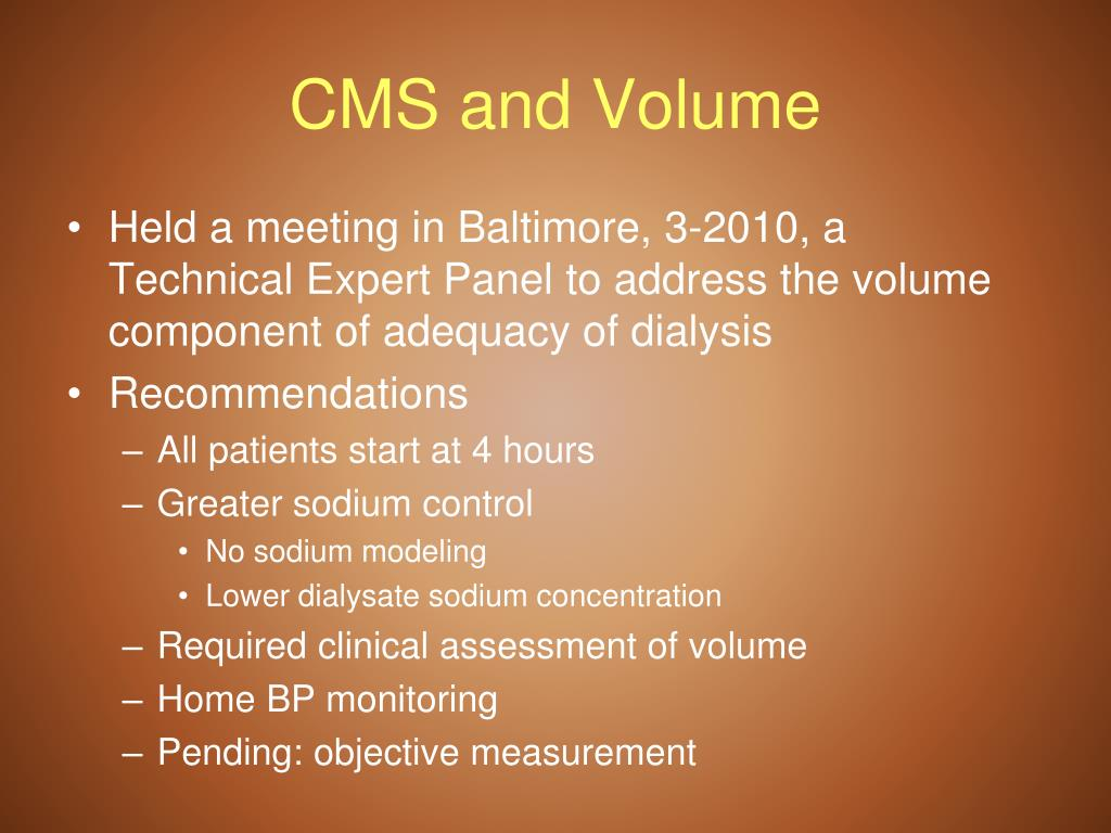 CMS and Volume