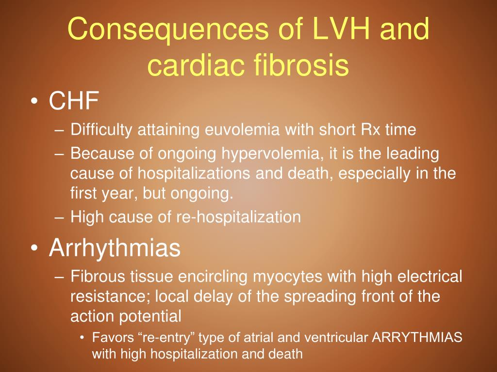 Consequences of LVH and cardiac fibrosis