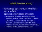 iaems activities cont19