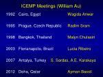 icemp meetings william au