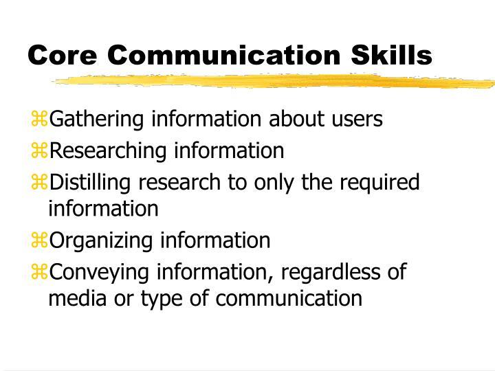 Core communication skills