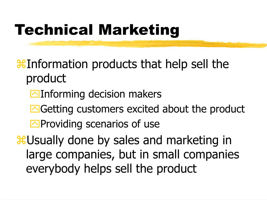 Technical Marketing
