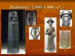 babilonia 2 000 1 800 a c
