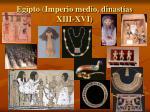 egipto imperio medio dinast as xiii xvi