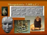 mesopotamia 5 000 a c