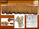 qumr n manuscritos