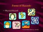 forms of hazards