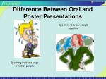 difference between oral and poster presentations