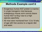 methods example cont d