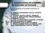 4 caracter sticas del empleado de mostrador de farmacia