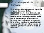 el rol del empleado de farmacia