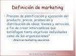 definici n de marketing