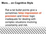 more on cognitive style