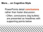 more on cognitive style16