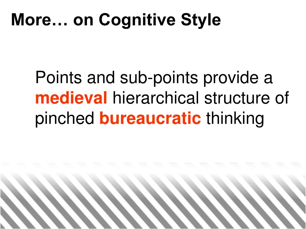 More… on Cognitive Style