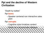 ppt and the decline of western civilization