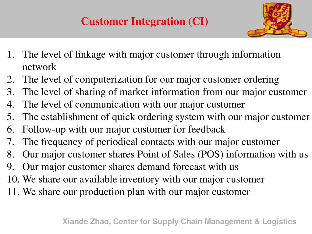 Customer Integration (CI)