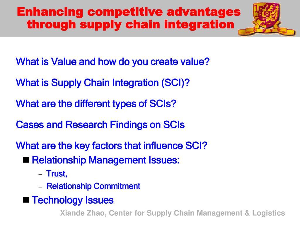 Enhancing competitive advantages