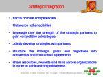 strategic integration