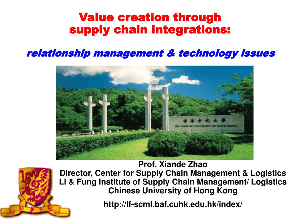 value creation through supply chain integrations relationship management technology issues l.