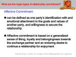 what are the major types of relationship commitment