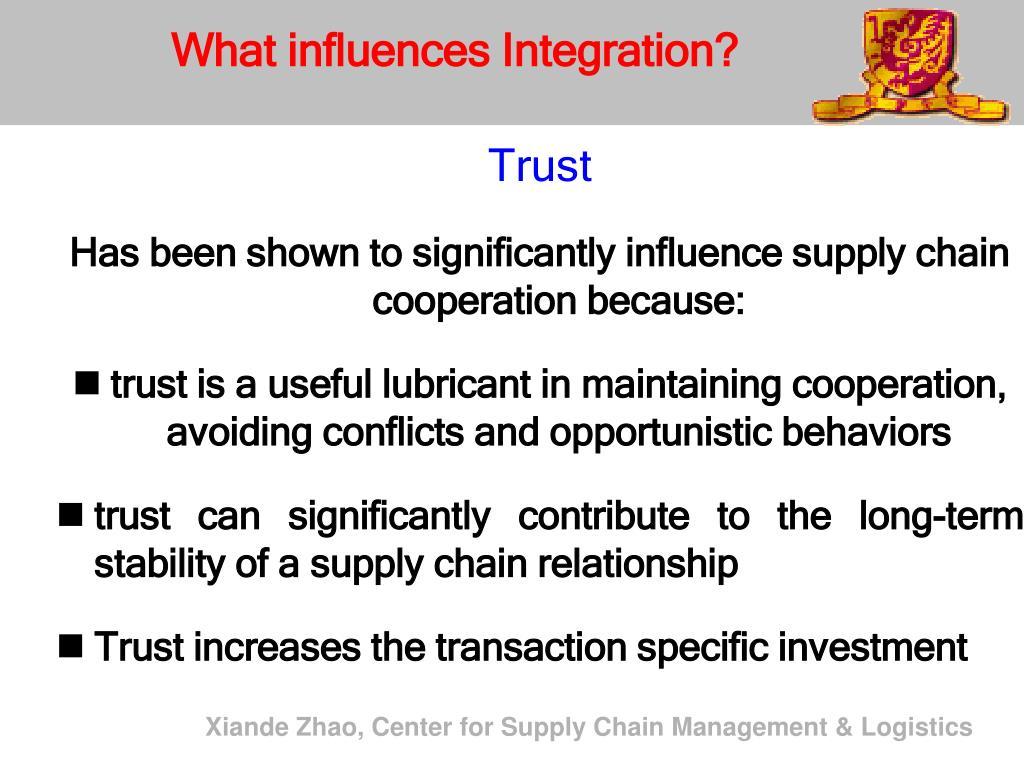What influences Integration?