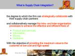 what is supply chain i ntegration
