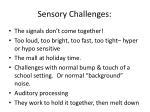 sensory challenges