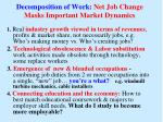 decomposition of work net job change masks important market dynamics