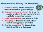 globalization is altering our perspective