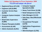online job openings in texas september 2008 372 529 total unique ads placed