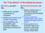 the two minds of the global economy i